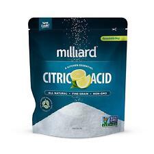 Milliard Citric Acid 5 Pound - 100% Pure Food Grade Non-Gmo 5 Pound Kitchen New