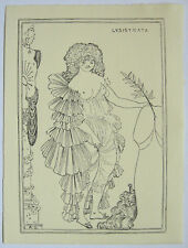 Aubrey Beardsley 1896 Pen & Ink drawing 'Lysistrata' phase 2 study - Provenance