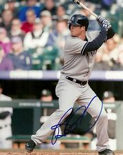 BRENNAN BOESCH NEW YORK YANKEES SIGNED AUTOGRAPHED 8x10 PHOTO W/COA AT BAT