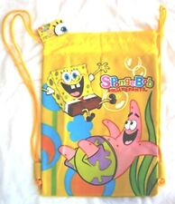 Yellow Spongebob Patrick Drawstring Backpack Sling Tote Kid's School Gym Bag 😊