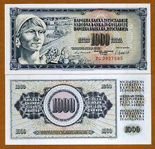 Yugoslavia, 1000 Dinara, 1981, P-92d, UNC > REPLACEMENT
