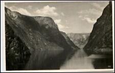Brevkort Norge Norwegen 1935 Naerofjord n/ Ratzeburg
