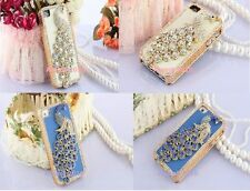 BEAUTIFUL 3D DIAMOND PEACOCK I PHONE CASE COVER FOR APPLE IPHONE 4&4S