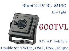 600TVL Sony Mini Square Miniature CCTV Camera W/ Low Light OSD WDR DNR PAL Ver.