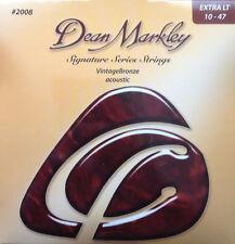 Dean Markley 2008 Vintage Bronze Acoustic Guitar Strings 10-47 xl gauge