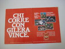 advertising Pubblicità 1988 MOTO GILERA 125 MX1/R1/KZ