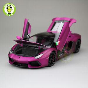 1:18 Lamborghini Aventador LP700-4 Diecast Welly FX Model Car Toys Matte Purple