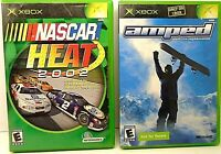 Lot of 2 Microsoft XBOX Games NASCAR HEAT 2002 & AMPED FREESTYLE SNOWBOARDING