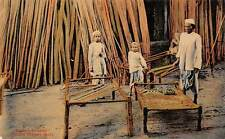 India Bamboo Merchant, Stinging (Bed) Charpai postcard