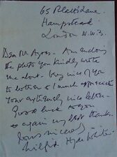 WILFRID HYDE-WHITE - ACTOR  MY FAIR LADY SIGNED LETTER