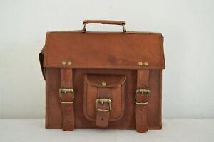 Leather Bag Genuine Handmade Messenger Shoulder Bag Men's Leather  Bag Briefcase