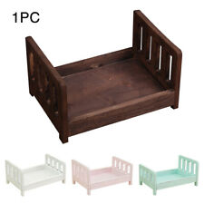 Photography Prop Cot Baby Photo Bed Boys Girls Newborn Photographic Wooden Bed