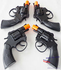 4x Military Police TOY Guns Snub-nosed Revolver Detective Cap Gun GREAT DEAL