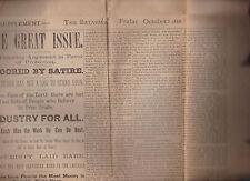 The Batavian Newspaper Supplement October 5 1888 Free Trade Batavia NY