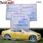 5x Clear Plastic Disposable Car Cover Temporary Universal Rain Dust Snow Garage