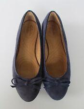 Clarks Indigo Womens Violet Blue Suede Leather Bow Ballet Flats Shoes  6.5 M