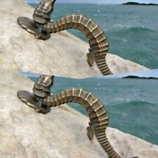 """2 large SEAHORSE solid brass door old style house PULL handle 13"""" heavy aged B"""