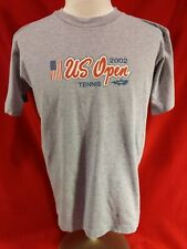 Vintage 2002 Us Open Tennis Roots Athletics Gray T-Shirt Medium