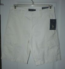 NWT Mens US Polo Assn. White Shorts~sz 30 Retails for 56.00