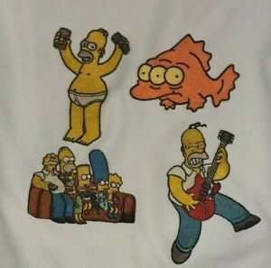 NEW LOT OF 4 - The Simpsons Sew/Iron Patches