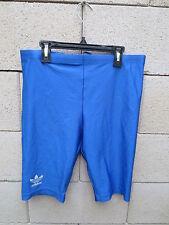 VINTAGE Collant court short running ADIDAS Trefoil cuissard bleu 44 nylon