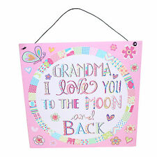 """Grandma Tin Plaque """"I love you to the Moon & Back"""" Mother's Day"""