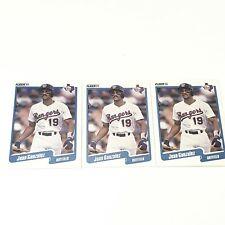 1990 Fleer Juan Gonzalez Texas Rangers #297 Baseball Card LOT OF 3