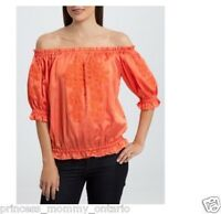 GUESS by Marciano Off Shoulder Blouse Shirt Top Embroidered Size XS L