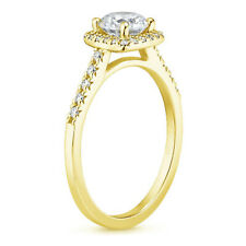 Solid Cushion Cut 14 K Yellow Gold 1.00 Ct Diamond Engagement Rings size 6
