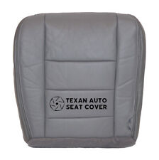 2005 2006 Ford F250, F350 Lariat XLT 4X4 Driver Bottom Leather Seat Cover Gray
