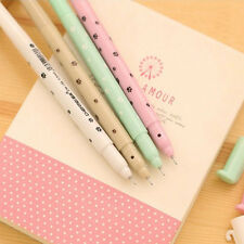 4X Cute Gel Black Ink Roller Ball Point Pen Lovely Cat Korean Random Fashion Set