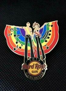 Hard Rock Cafe MANCHESTER 2014 GAY PRIDE Rainbow Banner Pair Pin Badge LE200