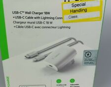 Belkin USB-C Wall Charger 18W USB-C to Lightning Cable iPhone Fast Charge
