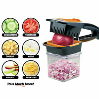 Food Chopper Dicer 4 Stainless Steel Blades Container Vegetable Onion Cutter