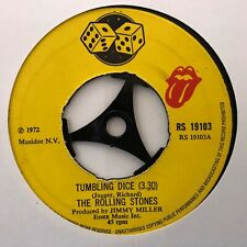 "ROLLING STONES TUMBLING DICE 1972 VINTAGE CLASSIC ROCK 45rpm 7"" VINYL"