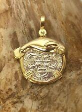 ATOCHA Coin Pendant Manatee GP over 925 Silver Sunken Treasure Jewelry
