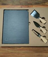 "Slate Cheese Cutting Board 9 1/2"" x 7""  With 3 Cutting/Serving Utensils Set NEW"