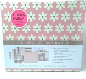 Scrapbook In A Box Baby Time Memory Book Kit