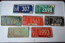 Antique License Plates - Kansas 1970's collection lot of 7 car truck auto tags