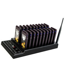 New 999CH Restaurant Wireless Paging Queuing System 20pcs Call Coaster Pagers US