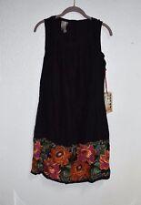 NEW Da-Nang Women's Summer Dress Cap Sleeve W/ Belt BLACK HAB8571628 Size: SMALL
