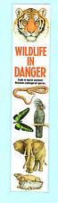 Book mark Wildlife in danger Tiger Snake Belt Parrot Elephant Lizard Watch Fur