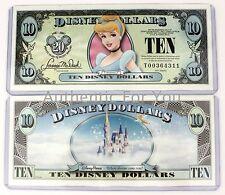 NEW Disney Parks Disney Dollars CINDERELLA $10 Ten Dollars 1987-2007 RARE