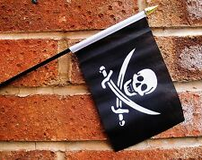 "CALICO JACK RACKHAM PIRATE SMALL HAND WAVING FLAG  FLAGS Pirates Buccaneer 6""X4"""