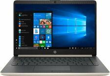 "HP Gold Notebook 14"" Intel Dual-Core 2.4GHz 128GB SSD 4GB RAM Win10 Webcam + Mic"