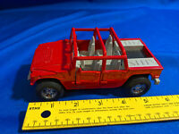1995 NewRay Die-cast Friction Powered Metal Red Hummer VTG Toy Model Diecast