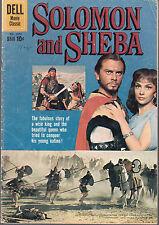 4-COLOR #1070 1959 [YUL BRYNNER,GINA LOLLOBRIGIDA]-SOLOMON & SHEBA-MOVIE-..VG