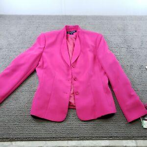 Woman's Rena Rowan Hot Pink Blazer Size 8 3 Button **flaw**