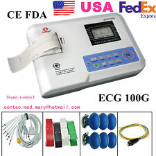 CONTEC Digital 1 Channel 12 lead ECG Machine EKG Electrocardiograph FDA US