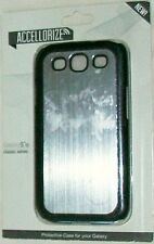 ACCELLORIZE SAMSUNG GALAXY SIII S3 CLASIC SERIES METAL SILVER FINISH COVER NEW